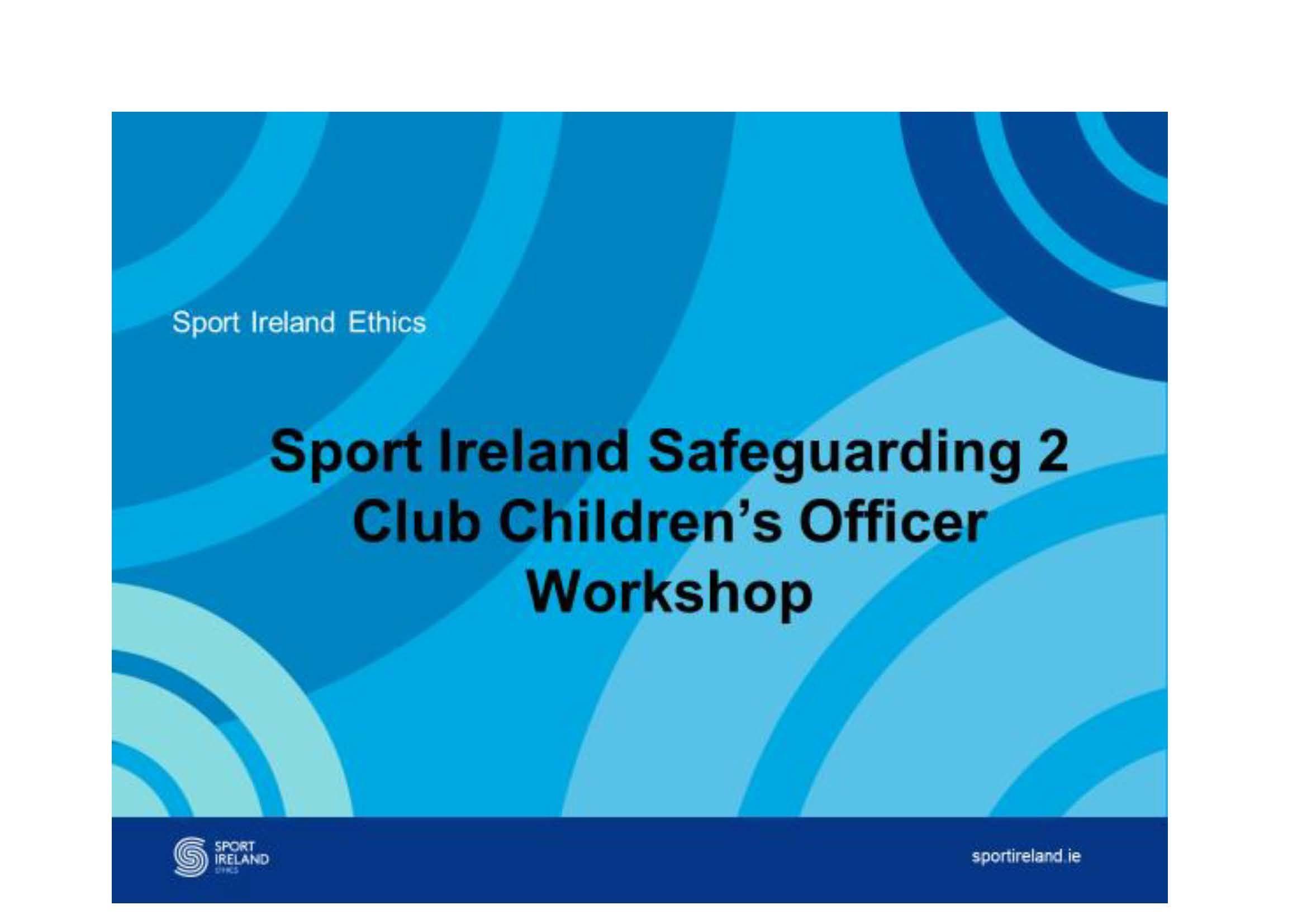 Safeguarding 2, Club Children's Officer Training, 02.05.19