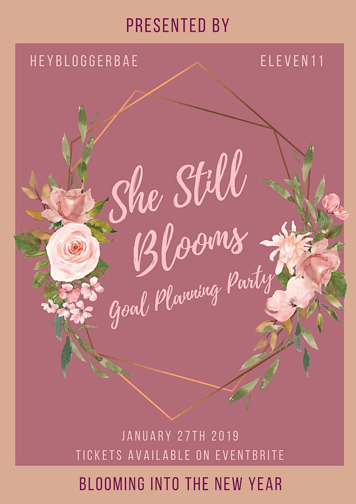 #SheStillBlooms Goal Setting Workshop image