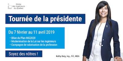 Tournée de la présidente -  Montréal