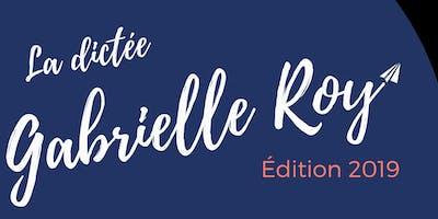 La dictée Gabrielle-Roy 2019 (Victoria)