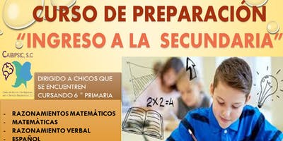 CURSO DE PREPARACIÓN PARA INGRESO A LA SECUNDARIA