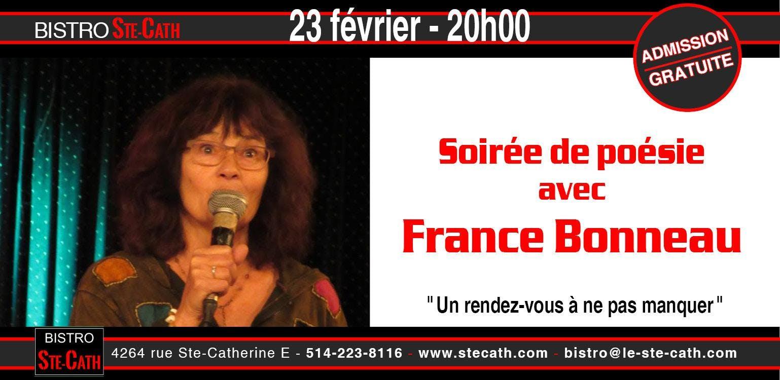 Soirée de poésie avec France Bonneau