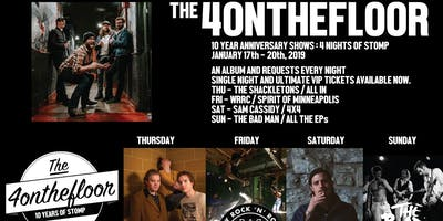 10 YEARS : 4 Nights of Stomp (the 4onthefloor Celebration)