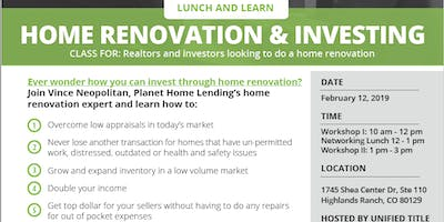 Home Renovation & Investing for Real Estate Agents
