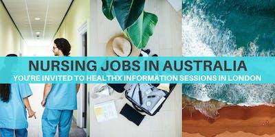 Nursing Jobs in Australia - HealthX Information Se