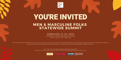 Men & Masculine Folks Network Statewide Summit
