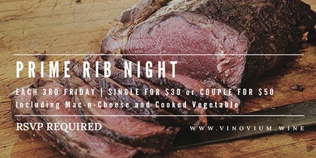 Prime Rib & Trivia Night - 3rd Fridays tickets