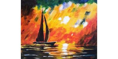 3/18 - Impressionist Sailboat @ Redmond Hop House, Redmond