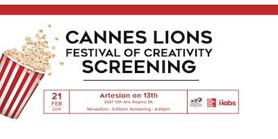 Cannes Lions Regina Screening 2019