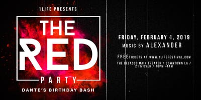 1LIFE presents The RED Party: DJ Alexander