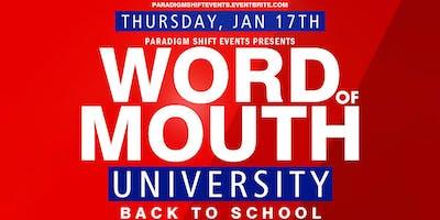 WOM University • Back to School Social