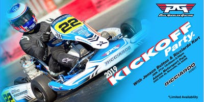 PGR Karting KICKOFF Party w/ F1 Champ Jenson Button, Ricciardo Kart & Guests