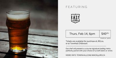 East Vancouver Brewing Co. Pairing Dinner