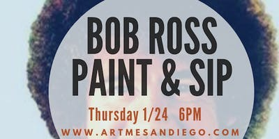 Paint and Sip Bob Ross Style
