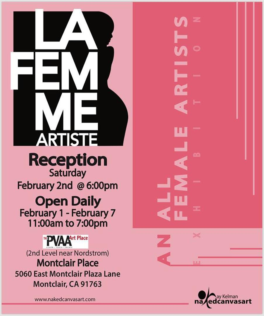 La FEMME Artiste Exhibition - Artist Reception