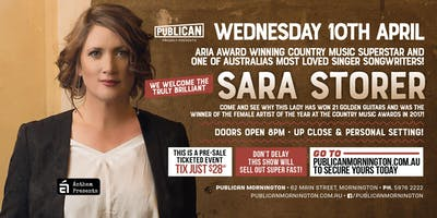 Sara Storer at Publican, Mornington