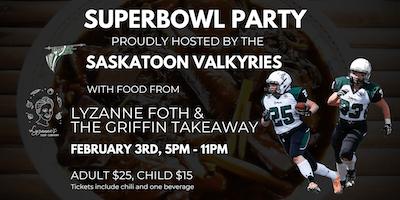 Superbowl Party with the Saskatoon Valkyries
