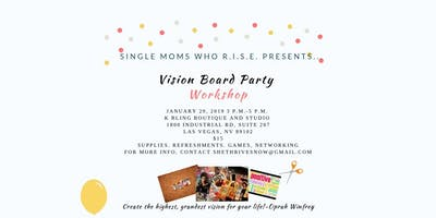 Single Moms Who R.I.S.E.-Vision Board Workshop