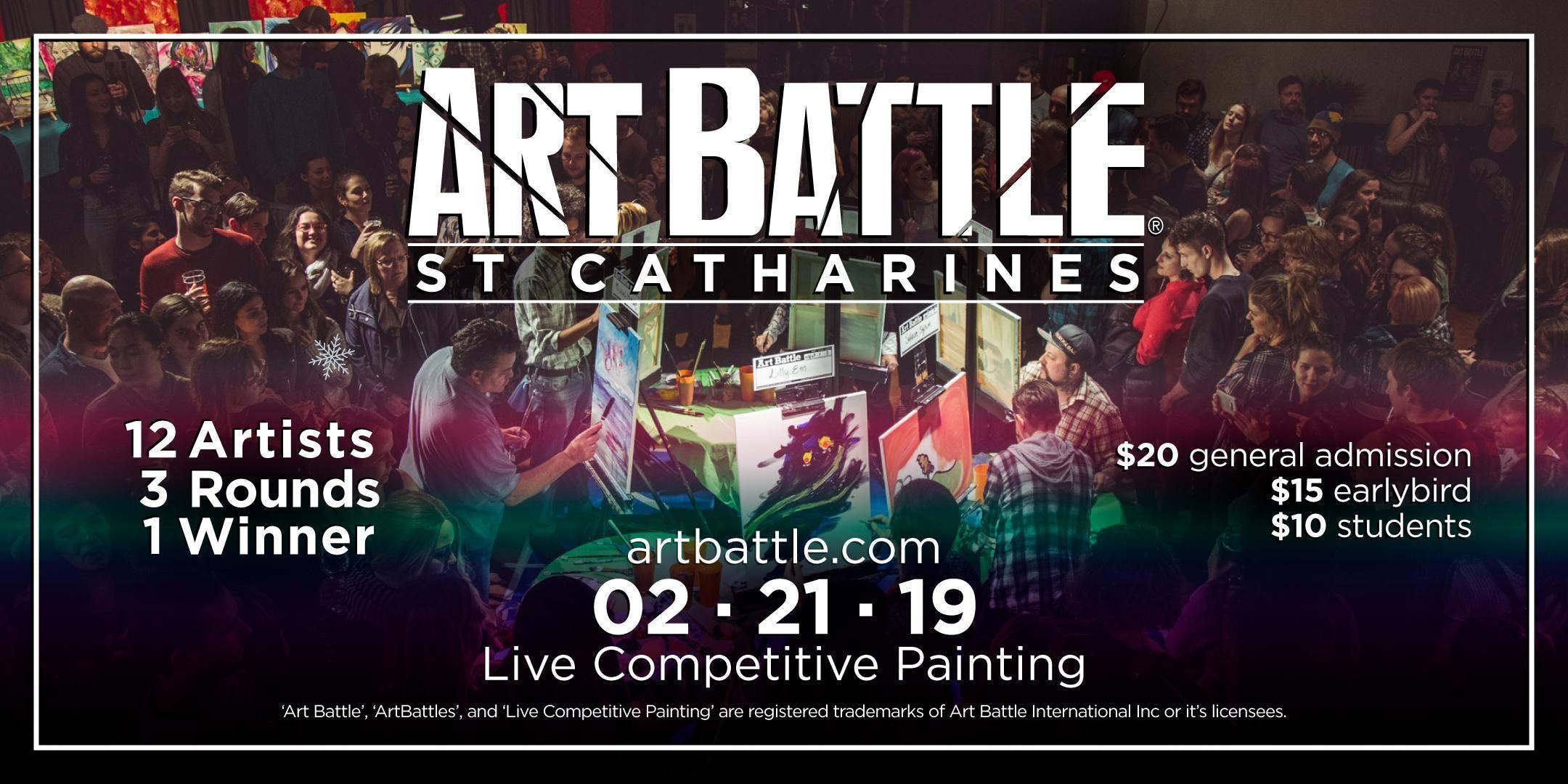Art Battle St. Catharines - February 21, 2019