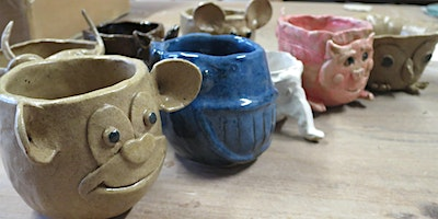 Fun pottery class on Thursday evening