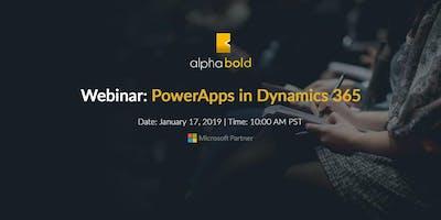 *WEBINAR* PowerApps in Dynamics 365