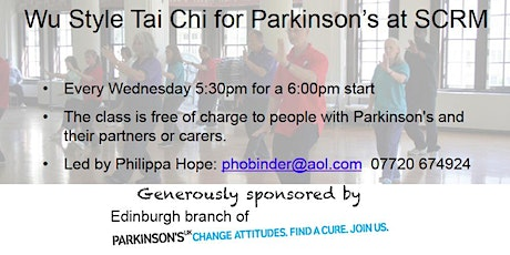 Wu Style Tai Chi for Parkinson's tickets