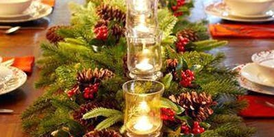 Create your own Christmas table arrangement