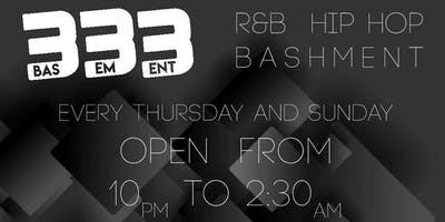 333 Basement is Back! Thursdays & Sundays