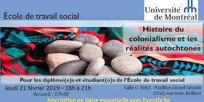 Histoire du colonialisme et les réalités autochtones