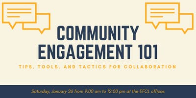 Community Engagement 101 (Second Offering)