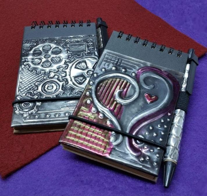 Embossed Pewter Notebook (A short workshop fo
