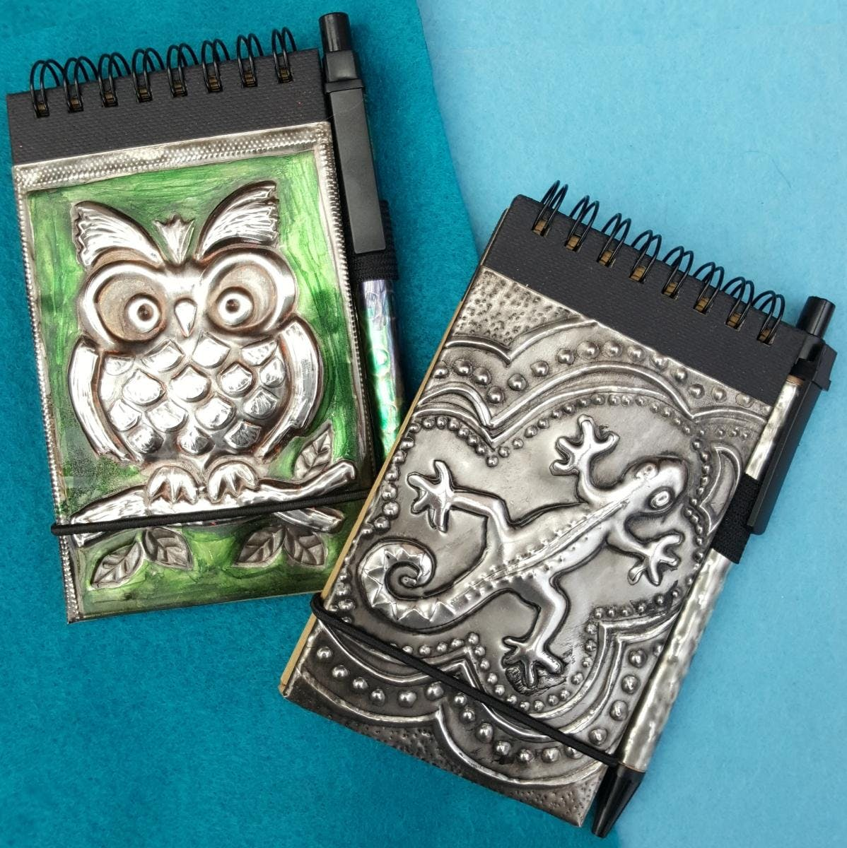 Embossed Pewter notebook- A short workshop fo