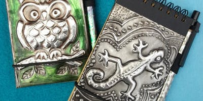 Embossed Pewter notebook- A short workshop for absolute beginners