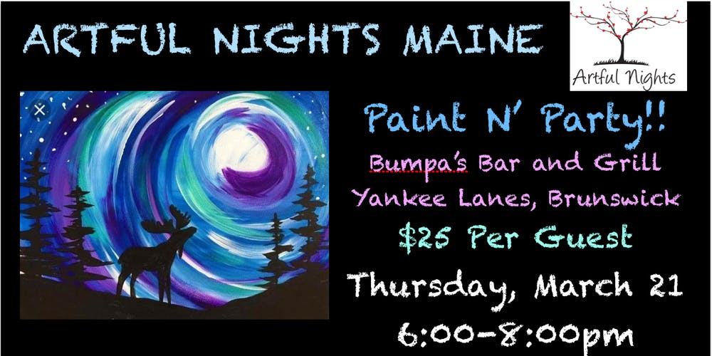 Paint N Party At Pa S Yankee Lanes Tickets Thu Mar 21 2019 6 00 Pm Eventbrite