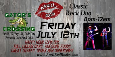 April Red Rockin' Gator's Crossing in Dade City (formally Docs)!