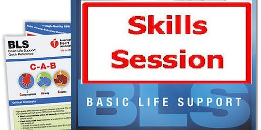AHA BLS Skills Session September 13, 2019 (INCLUDES Provider Manual E-Book!) from 4 PM to 6 PM at Saving American Hearts, Inc. 6165 Lehman Drive Suite 202 Colorado Springs, Colorado 80918.