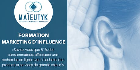 Formation Maïeutyk : Marketing d'influence billets