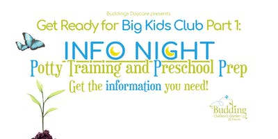 Info Night: Potty Training and Preschool Prep