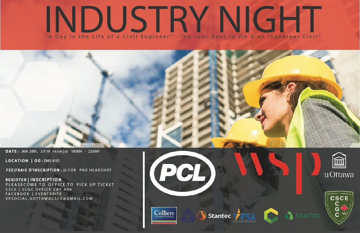 Civil Engineering Industry Night at the Unive