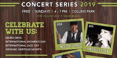 Nestor Torres performs FREE in Collins Park