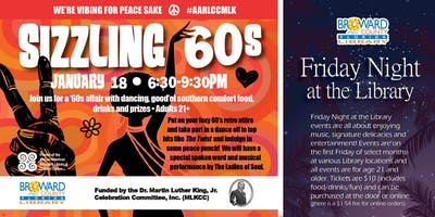 Friday Night at The Library Sizzling 60's