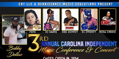 3rd  Annual Carolina Independent Music Conference & Concert