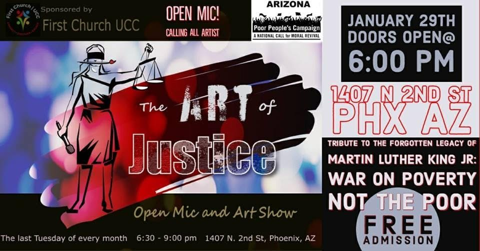 The Art of Justice Open Mic and Art Show