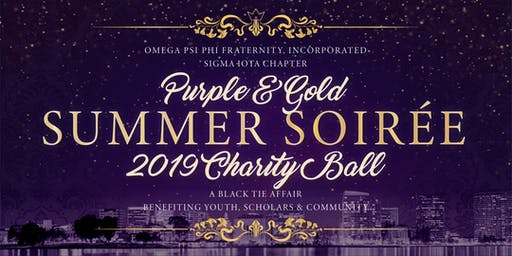 Purple & Gold Summer Soiree Charity Ball