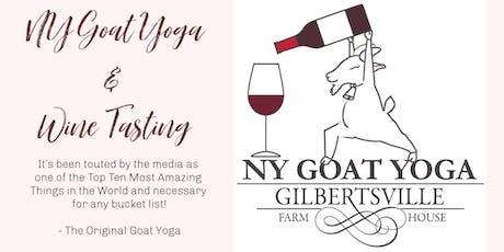 NY Goat Yoga & Wine Tasting tickets