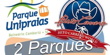 EXCURSÃO BETO CARRERO WORD + UNIPRAIAS + CAMBORIÚ SC ingressos