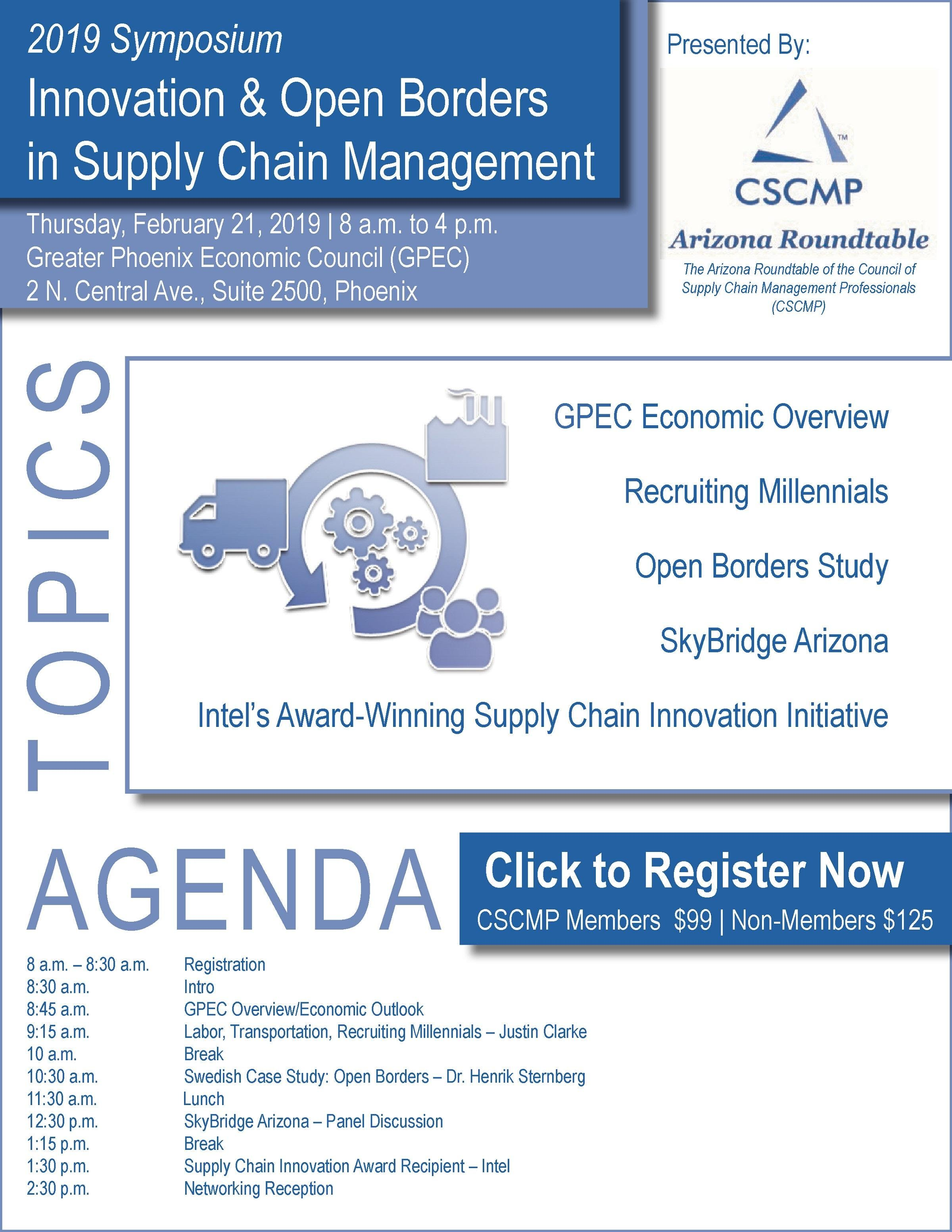 2019 Symposium Innovation & Open Borders in Supply Chain Management