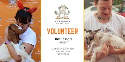 Volunteer Induction Night January 2019