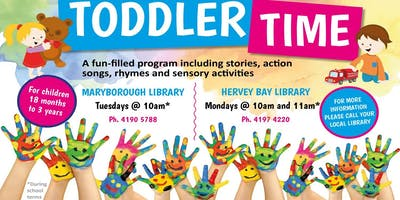 Toddler Time - Maryborough Library - 18 months to 3 years