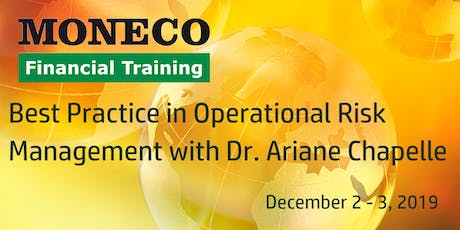 Best Practice in Operational Risk Management with Dr. Ariane Chapelle biglietti
